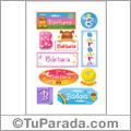 Nombre Bárbara para stickers