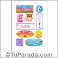Nombre Edith para stickers