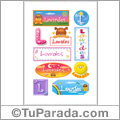 Nombre Lourdes para stickers