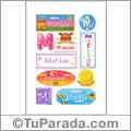 Nombre Matilde para stickers