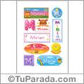 Nombre Miriam para stickers