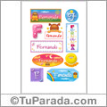 Nombre Fernanda para stickers
