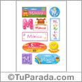 Nombre Mónca para stickers