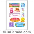 Susana, nombre para stickers