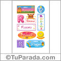 Roxana, nombre para stickers