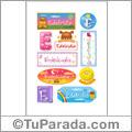 Edelcidia, nombre para stickers