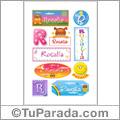 Nombre Rosalía para stickers