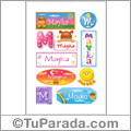 Mayka, nombre para stickers
