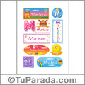 Nombre Marlene para stickers
