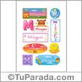 Nombre Milagros para stickers
