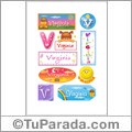 Virginia, nombre para stickers