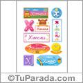 Ximena, nombre para stickers