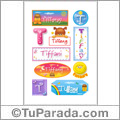 Tiffany, nombre para stickers