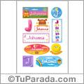 Johanna, nombre para stickers