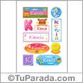 Nombre Kenia para stickers