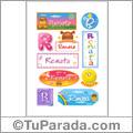 Nombre Renata para stickers