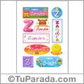 Zandra, nombre para stickers