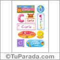 Carla, nombre para stickers