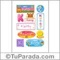 Nombre Katty para stickers