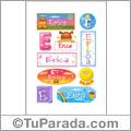 Erica, nombre para stickers