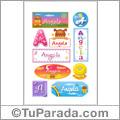 Nombre Angela para stickers