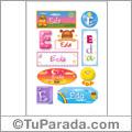 Eda, nombre para stickers