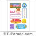 Ahonelides del Jesús, nombres para stickers