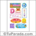 Detzani, nombre para stickers