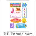 Jomaris, nombre para stickers