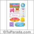Nombre Marlen para stickers