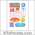 Moraima, nombre para stickers