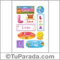 Nombre Lena para stickers