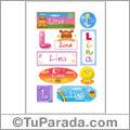 Lina, nombre para stickers