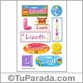Lizeth, nombre para stickers