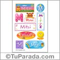 Mitzi, nombre para stickers