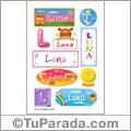 Luna, nombre para stickers
