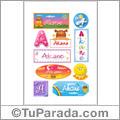 Akane, nombre para stickers