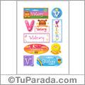Valery, nombre para stickers