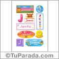 Jaretssi, nombre para stickers