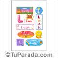 Nombre Leah para stickers