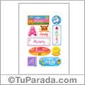 Adaly, nombre para stickers