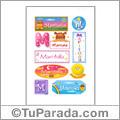 Maritoña, nombre para stickers