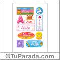Ailén, nombre para stickers