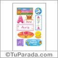 Auria, nombre para stickers