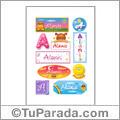 Alanis, nombre para stickers