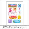 Suly, nombre para stickers