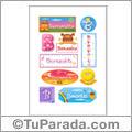 Nombre Bernardita para stickers