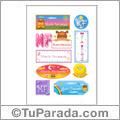 Nombre María Fernanda para stickers
