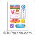 Vilma, nombre para stickers