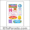 Nombre Nadia para stickers